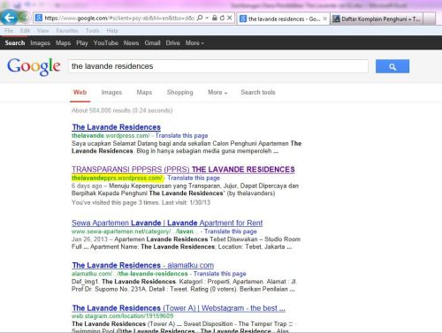 The Lavande Residences Key di Google