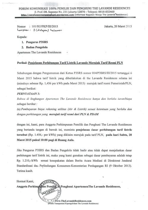 Permintaan Penjelasan Perhitungan Tarif Listrik Lavande Merujuk Tarif Resmi PLN_01