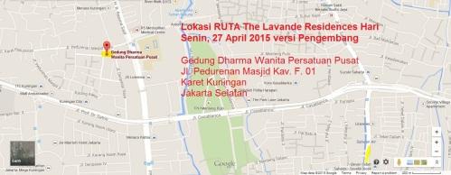 Gedung Dharma Wanita Persatuan Pusat - Jl Pedurenan Masjid Kav. F 01 - Lokasi RUTA Versi Pengembang